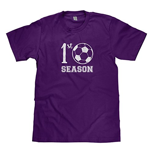 Mixtbrand Big Boys' First Soccer Season Youth T-Shirt S Purple (Beckham Soccer Shirt)