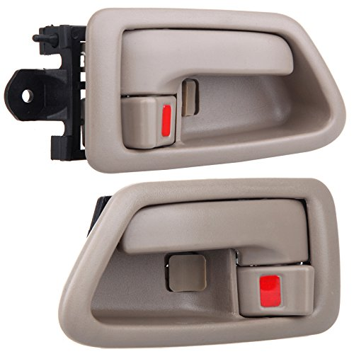- ECCPP Door Handles Interior Inside Inner Driver Passenger Side for 1997 1998 1999 2000 2001 Toyota Camry Beige(2pcs)