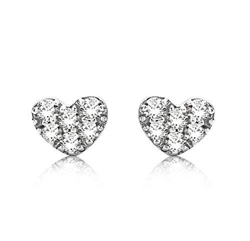 Miore - MY012E - Boucles d'Oreille Femme - Or Blanc 9 Cts 375/1000 0.3 Gr - Diamant