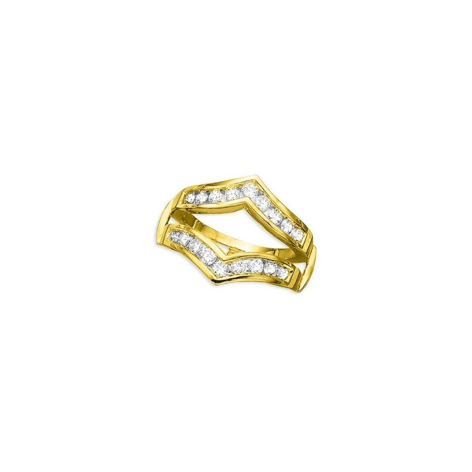 14K Yellow Gold Diamond Ring Guard (1 ctw)