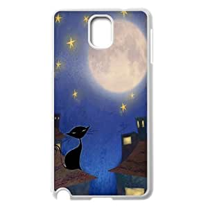 Custom Colorful Case for Samsung Galaxy Note 3 N9000, Cat, Sun and Moon Cover Case - HL-505787