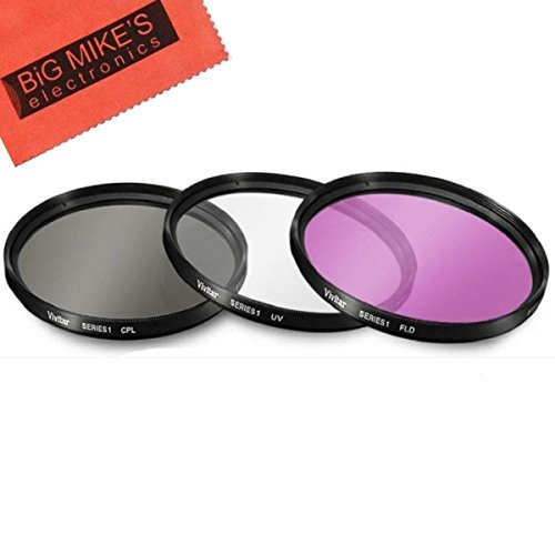 37mm Multi-Coated 3 Piece Filter Kit (UV-CPL-FLD) For Olympus 14-42mm f/3.5-5.6 M. Zuiko Digital ED Zoom Lens ()