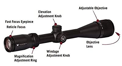 Vortex Optics Crossfire II 6-24x50 AO, Second Focal Plane Riflescope - Dead-Hold BDC Reticle (MOA)