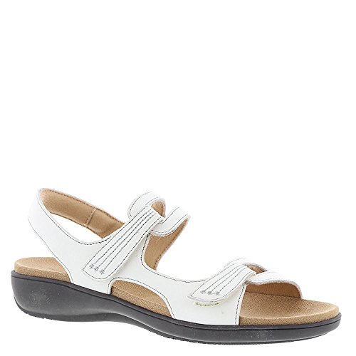 Trotters Womens Katarina 3 Open Toe Casual Ankle Strap, Off White/Ecru, Size 8.5