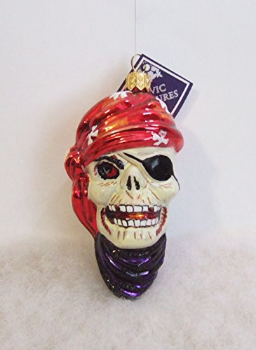 Slavid Treasures HAL084000 Davey Bones Pirate Skeleton Halloween Ornament by Slavic Treasures