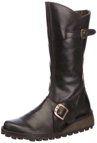 FLY London Women's Mes Leather Boot,Black,39 EU/8-8.5 M US