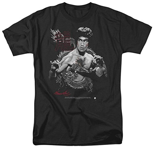 Bruce Lee Men's The Dragon Classic T-shirt Small Black