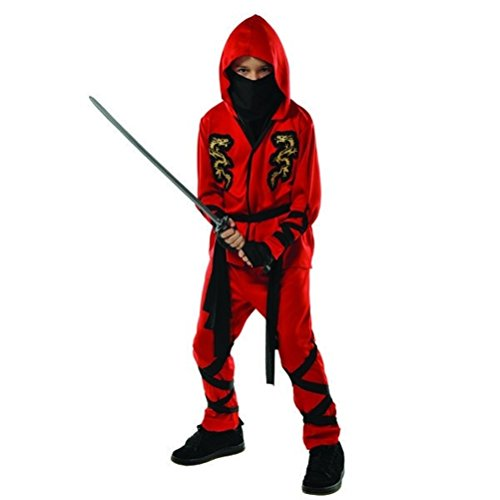 Fire Ninja Costume (Fire Dragon Ninja Child Costume - X-Large)