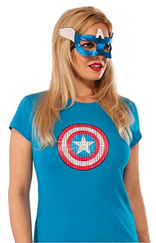 Rubie's Costume Co Women's Marvel Universe American Dream Eyemask, Multi, One Size (Ladies Captain America Costumes)