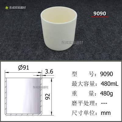 FINCOS 99 Ceramic Corundum Alumina Volatile Water Ash Cylindrical Crucible Temperature Resistance 1600 Degree Various Specifications wi - (Color: 9090 X 5PCS)