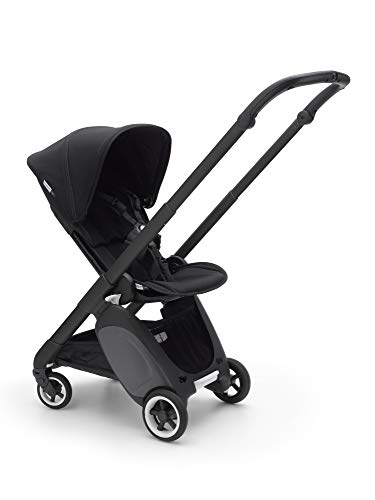 Bugaboo Ant Baby Stroller – Lightweight Stroller – Foldable Stroller – Travel and Compact Storage – Fits in Overhead Compartments – Reversible and Reclinable Travel Stroller – Black