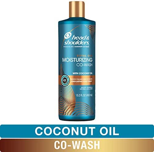 Head and Shoulders Moisturizing CoWash, Anti Dandruff Treatment and Scalp Care, Royal Oils Collection with Coconut Oil, for Natural and Curly Hair, 15.2 fl oz