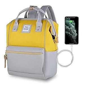 HETHRONE Sac à Dos Femme 15.6 Sac à Dos Pc Antivol Imperméable Backpack pour Scolaire Voyage Travail Décontracté Gris…