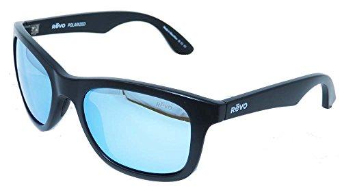 Revo Eyewear Sunglasses Huddie Matte Black Polarized Blue Water - Revo Wayfarer