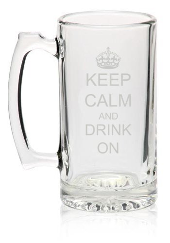 27oz-Glass-Beer-Mug-Stein-Keep-Calm-and-Drink-On