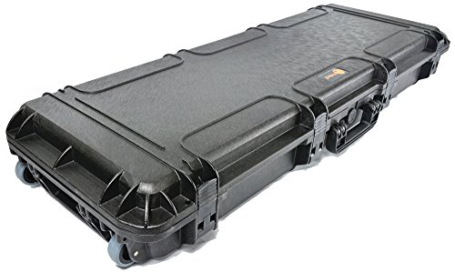 Waterproof Rifle Hard Case Elephant Elite EL4305W 43'' With Pre-Cubed Foam and Wheels for Hunting Long Rifle Shootgun with Magazines, Accessories or Handgun, Watertight Hard Plastic case by Elephant Cases