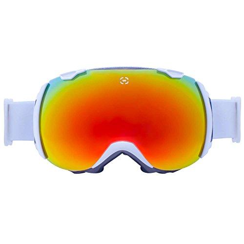 [Winterial Globe Goggles   Ski   Snowboard  Snowmobile Goggles All Mountain   UV Protection   White] (All Mountain Snow Skis)