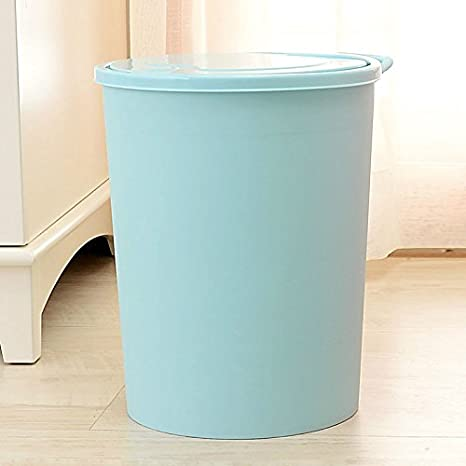 The utility model relates to a press type household garbage can, a deodorizing toilet, a living room and a kitchen, which can be hand held round,Beige 10L AINIF