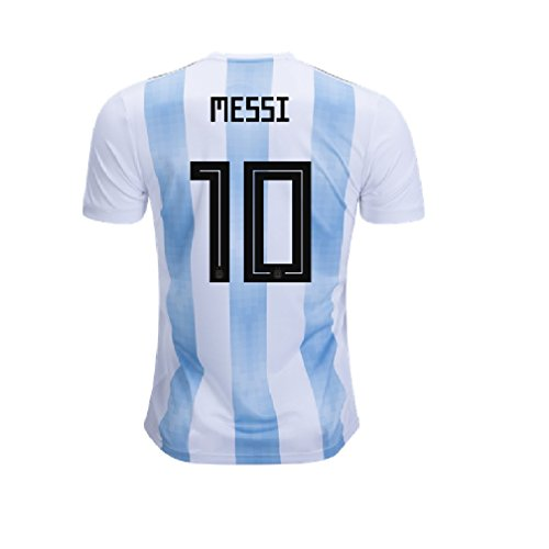 Marex Sky Blue Football/Soccer T-shirt For Men With Messi Written at Back