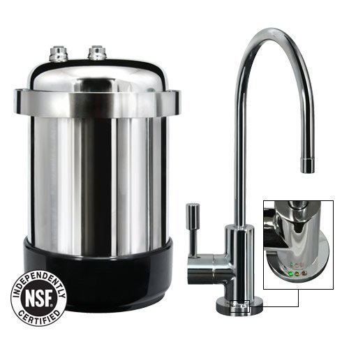 WaterChef U9000 Premium Under-Sink Water Filtration System with Intelligent Monitor (Polished Chrome Designer Faucet)