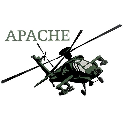 U.S. Army Apache Helicopter Clear - Helicopter Apache Decal