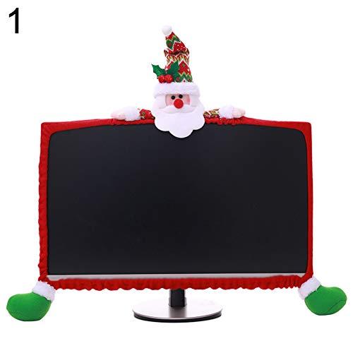 (Cartoon Santa Claus Reindeer Snowman Christmas Non-Woven Fabric Computer Sleeve - Santa Claus)