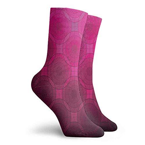 Magenta Men Multicolored Pattern Unisex Men's & Womens Socks Punch Pink (Pink Sock Monkey Lovey)