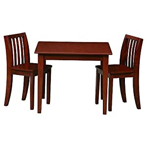 solutions by kids r us table and chair set espresso playroom nursery decor. Black Bedroom Furniture Sets. Home Design Ideas