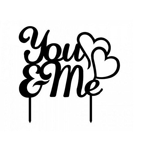 Cake Topper Words You And Me (Topper Cake Words)
