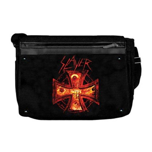 Price comparison product image Bioworld Merchandising Slayer Burning Cross Messenger Bag