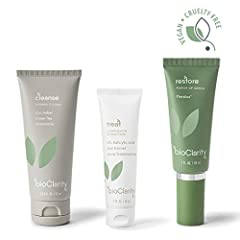 BioClarity is a twice daily, 3-step system that fights acne and soothes skin without harsh chemicals. The secret is Floralux(R) with naturally derived chlorophyll (the green stuff in plants)! BioClarity is dermatologist developed, tested, and...