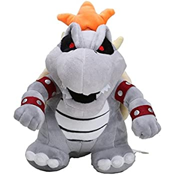 "Amazon.com: Super Mario Plush 9"" / 23cm Gray King Bowser ..."