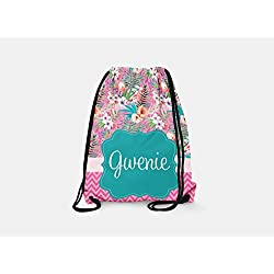 6a422f6720 Tin Tree Gifts Customized Drawstring Backpack Hawaiian Personalized Backpack