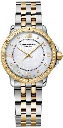 Raymond Weil Tango MOP Dial Two-Tone SS Quartz Ladies Watch 5391-SPS-00995