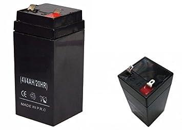 Bateria recargable 4V 4Ah/20HR Sin mantenimiento basculas ...