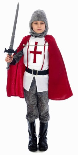 (FDC Big Boys' Knight Lancelot King Arthur Fancy Dres Costume U Small Multicolor)
