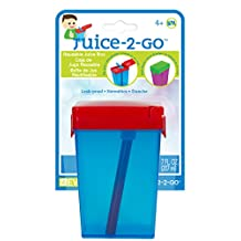 Evriholder Juice-2-Go Drinkware Set -- Pack of 3 Reusable Juice Boxes for Kids Toddlers, Assorted Colors (3 Pack)