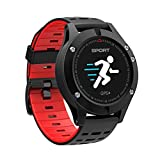 ZZANN Smart Activity Tracker, Smart Bluetooth Watch Waterproof Bracelet Heart Rate Monitor GPS Route Tracking Pedometer Sports Wristband w/OLED Color Screen for iOS Android Smart Phones (Red)