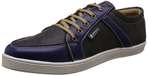 Spiky Men's Black and Blue Sneakers - 10 UK/India (44 EU)(SPS7019)