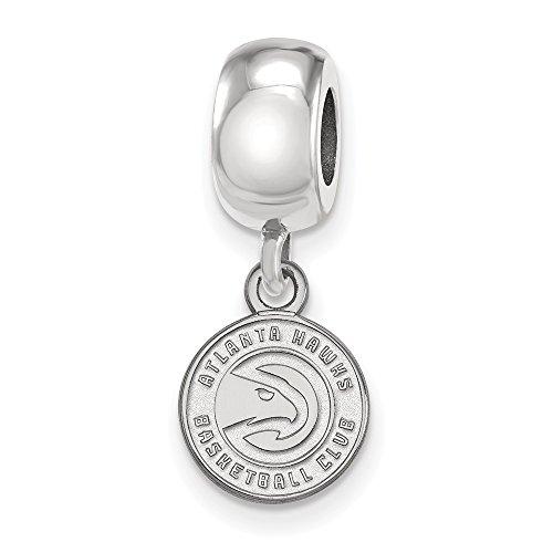 Sterling Silver NBA LogoArt Atlanta Hawks XS Dangle Bead Charm by Security Jewelers