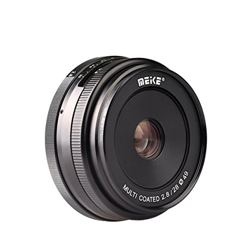 Meike 28mm f/2.8 Manual Focus Fixed Lens for Fujifilm FX Mount Digital Cameras ( X-A1/A2,X-e1/e2/e2s,X-M1,X-T1/T10,X-pro1/pro2 etc)