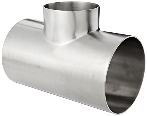 Dixon B7RWWW-G400300P Stainless Steel 304 Polished Fitting, Weld Reducing Tee, 4'' Tube OD x 3'' Tube OD x 4'' Tube OD by Dixon Valve & Coupling