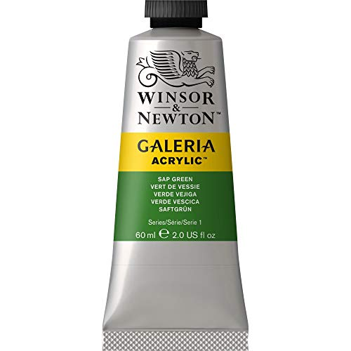 Winsor Newton Galeria Acrylic Paint Tube, 60-ml, Sap Green