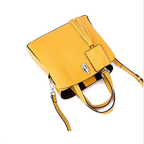 Fashion Hongge Female Baotou B Leather Layer Cattle Shoulder Bag qOYFqRw