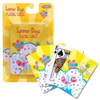 Schylling Summer Bugs Playing Cards With Tin Case Pack 24