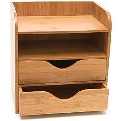 Lipper International 4-tier Mini Desk Organizer, Brown