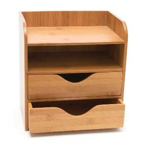 Lipper International 1804 Bamboo Wood 4-Tier Desk and Office Supply Organizer, 7 5/8'' x 5 1/8'' x 8 1/4''