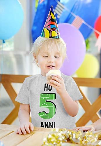 5 Compleanno Campo Calcio Arancione Maglietta Anni Per Regalo Da Bambini Shirtgeil Ho 5q8nff