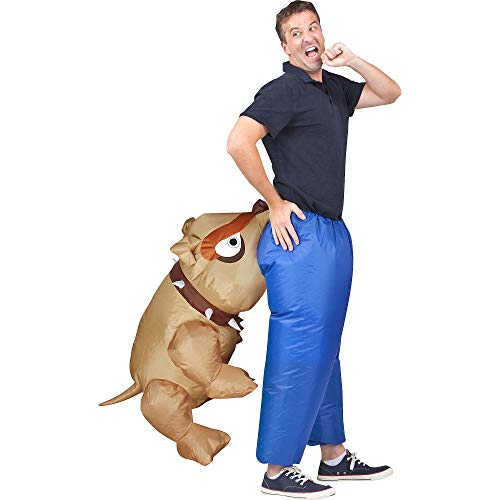 Totally Ghoul Biting Bulldog Illusion Inflatable Costume, One size fits most -