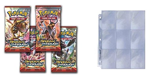 Pokemon-XY8-Breakthrough-Booster-Packs-x-4-with-Ultra-Pro-259-Page-Protectors-Bundle